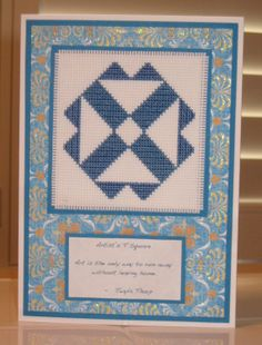 Artist's T Square Handmade Cross Stitch by CrossStitchCards, £6.00