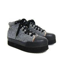 Vintage PLATFORM Sneakers. Sweater tennis by dirtybirdiesvintage