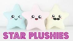 DIY Easy Kawaii Star Plush Pillows  - Easy Room Decor & Gift Idea