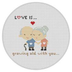 LOVE IS...Cross Stitch Pattern Wedding cross stitch Modern