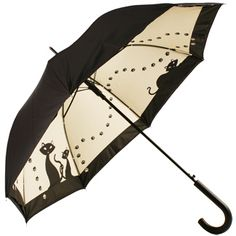 Black Cats Double Canopy Art Print Walking Length Umbrella