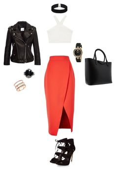 """""""Party"""" by abbykgirdler on Polyvore featuring C/MEO COLLECTIVE, BCBGMAXAZRIA, Givenchy, Anine Bing, ASOS, Versace, Helene Zubeldia and EF Collection"""
