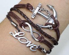 Kama  silver bracelet karma silver anchor bracelet by itouchsoul, $5.99