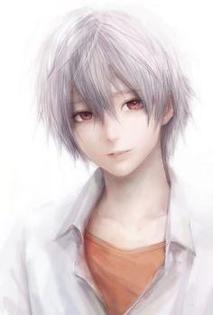 Kaworu Nagisa from Evangelion Manga Anime, Anime Nerd, Manga Boy, Neon Genesis Evangelion, Character Inspiration, Character Art, Ken Kaneki Tokyo Ghoul, Boy Art, Pretty Art