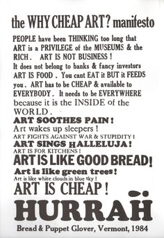 Bread and Puppet is one of the oldest, nonprofit, self-supporting theatrical companies in the [USA].