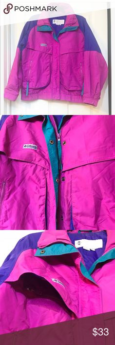 Women's vintage colorful Columbia Jacket Such an amazing vintage jacket . Great condition !plenty of pocket s Columbia Jackets & Coats