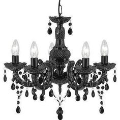 black chandelier - Google Search