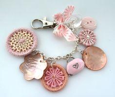 bag purse charm  Dorset button charm for handbag by GinisBoutique