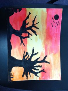 Step#3 Halloween's Tree Make a background decoration.
