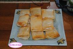 Feuilles de brick aperitives au fromage de chevre