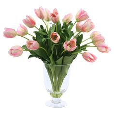 Faux Tulip Arrangement in Pink