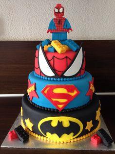 Lego Marvel cake