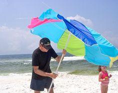 Best Beach Umbrella for All Day Beach Sun Shade. Tips on Beach Shade, Beach Umbrella Anchoring and Beach Umbrella Accessories Beach Shade Tent, Beach Tent, Beach Umbrella Anchor, Best Beach Chair, Beach Supplies, Blowin' In The Wind, Adirondack Chair Plans Free, Beach Hacks, Beach Meals