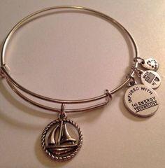 "Alex & Ani Style Charm Bracelet - ""Sail Away"" - http://designerjewelrygalleria.com/alex-ani/alex-ani-style-charm-bracelet-sail-away/"