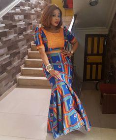 Beautiful Ankara Long Gown Style http://www.dezangozone.com/2016/03/beautiful-ankara-long-gown-style_31.html