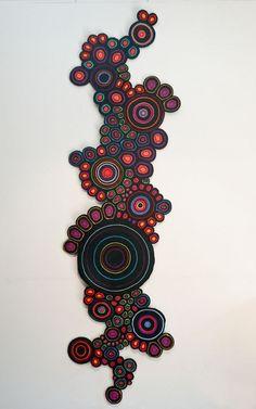 Amazing!!! Argentine designer María Boggiano  - Tapiz (técnica: fieltro sintético enroscado)  http://mariaboggiano.com.ar