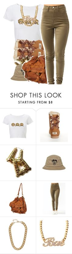 """""""Running late for school"""" by lulu-foreva ❤ liked on Polyvore featuring UGG Australia, Stussy and H&M"""