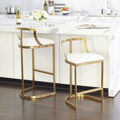 31 Trendy Kitchen Island Stools With Backs Living Rooms Gold Bar Stools, Modern Bar Stools, Bar Chairs, Modern Chairs, Room Chairs, Gold Stool, Modern Armchair, Dining Chairs, Acrylic Bar Stools