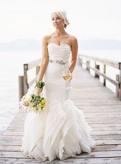 Dress...flowers...wine....yes please! <3