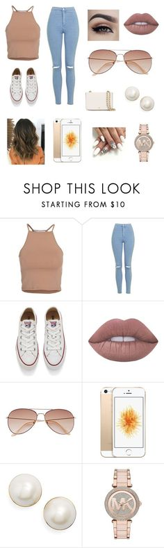 """"" by joslynnkenworthy on Polyvore featuring NLY Trend, Topshop, Converse, Lime Crime, H&M, Kate Spade, Michael Kors and Tory Burch"