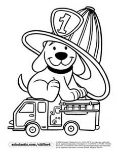 Fire Safety Dalmatian Printable Pattern Clifford The Dog Coloring Page Truck Clip Art Hat