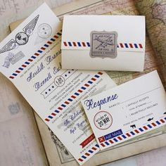 Air Mail Wedding Invitations - Premium Wedding Invitation Designs