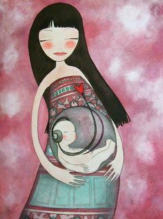 The mother's heartbeat is the baby's first and favourite lullaby <3