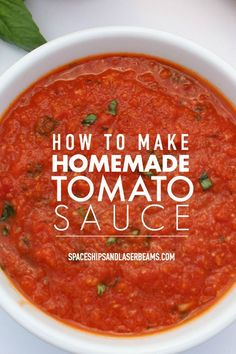 Easy Spaghetti Sauce Recipe With Crushed Tomatoes. Homemade Spaghetti Meat Sauce Together As Family. Home and Family Fresh Tomato Sauce Recipe, Tomato Sauce Recipes, How To Make Tomato Sauce, Simple Tomato Sauce, How To Freeze Tomatoes, Gluten Free Spaghetti Sauce, Lasagna Sauce Recipe, Freezer Spaghetti Sauce, Garden Tomato Recipes