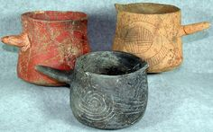 Archaeologists Find 900-Year-Old Cup of Tea | Traces of black drink, a highly caffeinated drink indigenous to the southeastern United States, were found in beakers like these from Cahokia, an ancient city outside current-day St. Louis, Missouri. Image: Linda Alexander/Illinois State Archaeological Survey | From WIRED.com