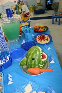 Finding nemo party shark watermelon bowl