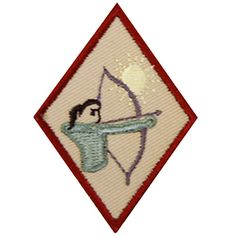 GSSD ARCHERY BADGE FOR GIRL SCOUT CADETTES-Orders include badge requirements. Girl Scouts Outdoor Skills.