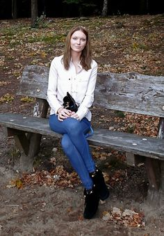 With my doggy Oki! She loves to walk in the Forest. Love Her, Seasons, Autumn, Pretty, Tops, Women, Fashion, Moda, Women's