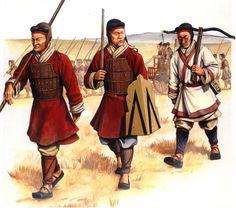 Typical Han Dynasty soldiers, historische Rekonstruktion