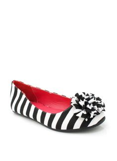 striped rosette flats $14.60...I mean they're ridiculous but they're kind of fun.