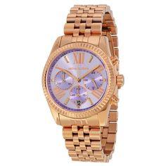 Brand New Michael Kors MK6207 Lexington Lavender Dial Rose Gold Women's Watch | eBay