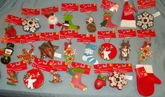 Lot of 24 New with Tags Christmas Tree Ornaments Crafts Holiday Wood More   eBay $4.99