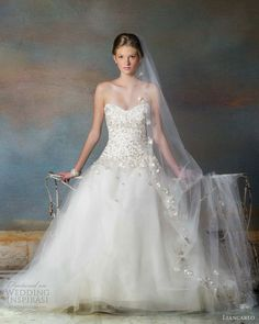 chic wedding dresses for fall | liancarlo bridal fall 2013 wedding dress style 5838 strapless gown