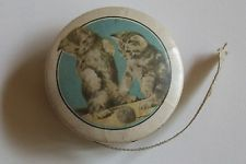 VINTAGE TAPE MEASURE ~ 2 KITTENS PLAYING WITH BALL OF YARN ~ ADORABLE
