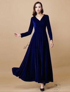 Velvet dress Wedding dress Chiffon party dress by STCustomStudio | Wedding Interest