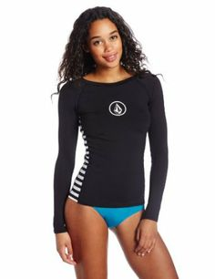 Volcom teens & Women's Simply Solid Long Sleeve Rash Guard