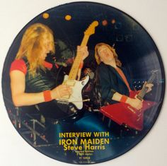 Interview with Iron Maiden Steve Harris Picture Disc LP Vinyl Record Album, Tell Tales - TT 109 B,  Hard Rock, 1987, Original Pressing