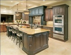 Receive a Complimentary In-Home Kitchen Remodel Consultation with an Award Winning Kitchen Designer from Kitchen Kraft Inc. Beautiful Kitchens, Dream Kitchen, Home, Kitchen And Bath, Kitchen Remodel, Big Kitchen, Home Kitchens, Kitchen Pictures, Kitchen Photos