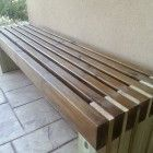 Ana White | Modern Slat Top Outdoor Wood Bench - DIY Projects