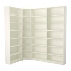 IKEA - BILLY, Bookcase, white, , Adjustable shelves can be arranged according to your needs.A simple unit can be enough storage for a limited space or the foundation for a larger storage solution if your needs change.Narrow shelves help you use small wall spaces effectively by accommodating small items in a minimum of space.