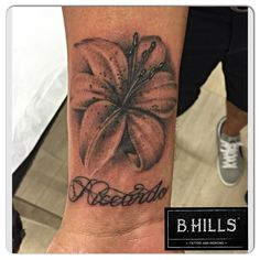 #Realistic #Lilies #Tattoo #ink #art #lettering #calligraphy #blackandgrey #tattooartist #ladyoktopus