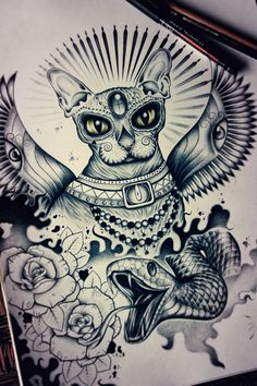 Tattoo design by Edward Miller