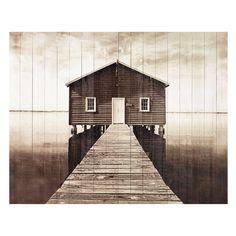 Testata da letto in listelli di legno 140 cm  Seaside