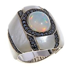 Colleen Lopez Ethiopian Opal and Mother-of-Pearl Ring