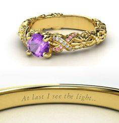 Tangled ring - The only thing I'd change would be to make the purple lighter or make it a clear diamond instead, then it'd be PERFECT! <3