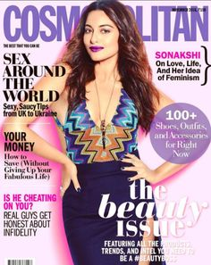Sonakshi Sinha on the cover of Cosmopolitan.